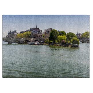 River Seine Ile De La Cite in Paris Photograph Cutting Board
