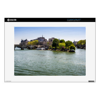 "River Seine Ile De La Cite in Paris Photograph Skins For 15"" Laptops"