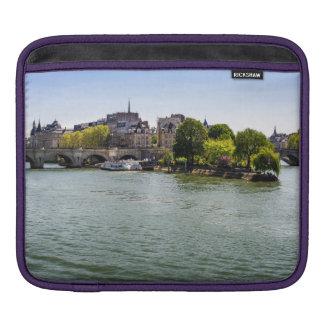River Seine Ile De La Cite in Paris Photograph Sleeve For iPads