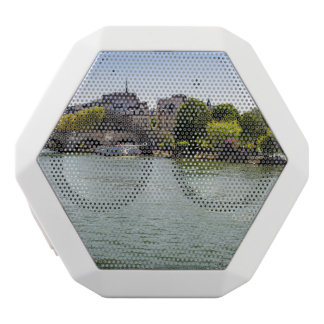 River Seine Ile De La Cite in Paris Photograph White Bluetooth Speaker
