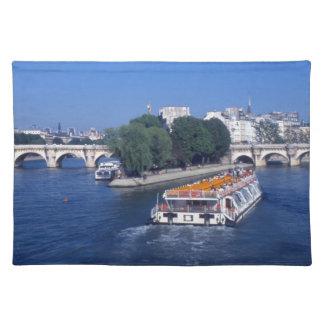 River Seine, in Paris France Cloth Placemat