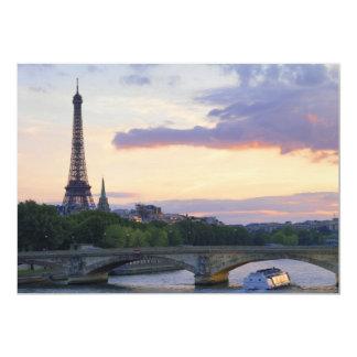 River Seine 5x7 Paper Invitation Card