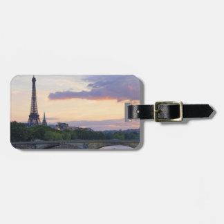 River Seine Luggage Tag