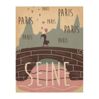 River Seine, Paris,france vintage travel poster