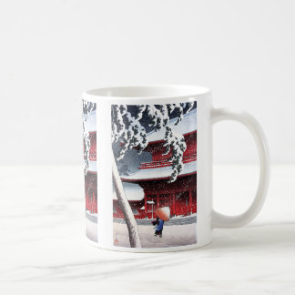 River shoal 巴 water, temple with respect to lawn i coffee mug