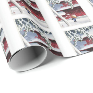 River shoal 巴 water wrapping paper