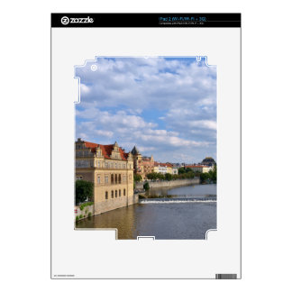 River side of Prague, Republic Czech, Decals For iPad 2