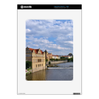 River side of Prague, Republic Czech, iPad Decals