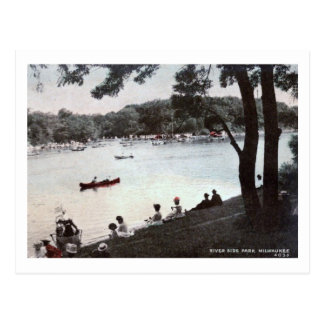 River Side Park, Milwaukee, Wisconsin Vintage Post Card