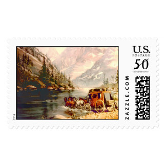 RIVER STAGECOACH CROSSING by SHARON SHARPE Postage