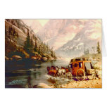 RIVER STAGECOACH CROSSING by SHARON SHARPE Stationery Note Card