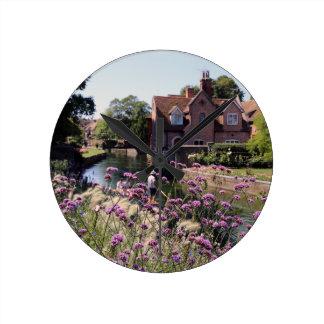 River Stour, Canterbury, Kent, UK Round Clock