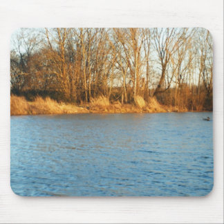 River Sunlight Mouse Pad