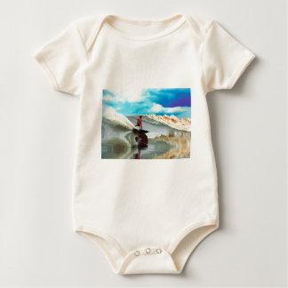 River surfing Seven Ghosts Sumatra Baby Bodysuit