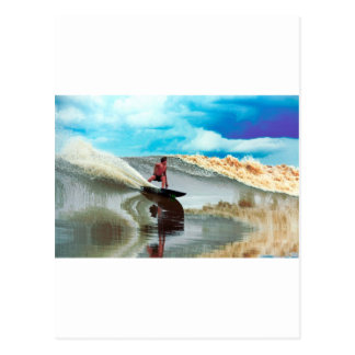 River surfing Seven Ghosts Sumatra Postcard