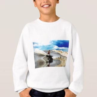 River surfing tidal bore wave Sumatra Sweatshirt