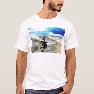 River surfing tidal bore wave Sumatra T-Shirt