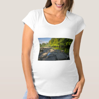 River Swale, Easby, Richmond, North Yorkshire Maternity T-Shirt