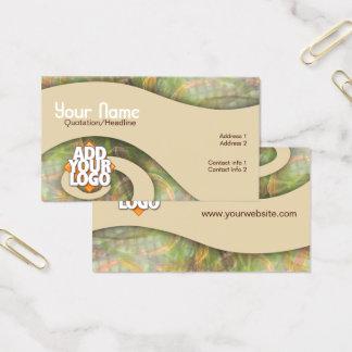 River Swirl Art Business Card