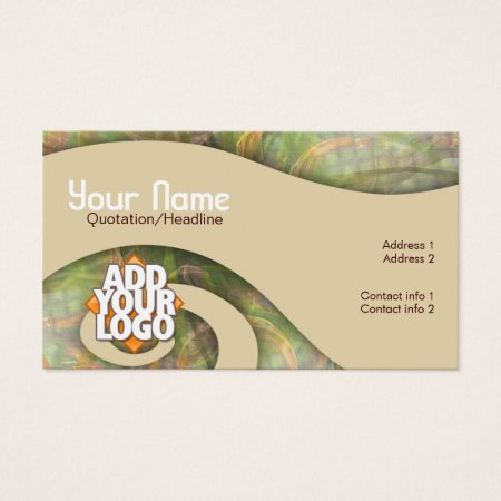 Earthy Tones Artistic Curly River Swirls Artist Business Cards