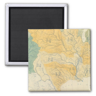 River Systems in the US 2 Inch Square Magnet