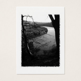 River Taw. Black and White. Business Card