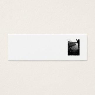 River Taw. Black and White. Mini Business Card
