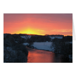 River Teviot at Sunset, Notecard Stationery Note Card