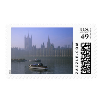 River Thames and Houses Stamp