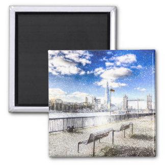 River Thames Art Refrigerator Magnets