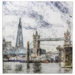 River Thames Art Napkin