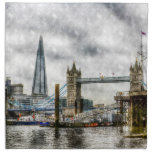 River Thames Art Printed Napkins