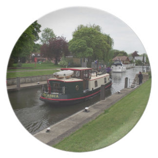 River Thames at Chertsey Lock Plate