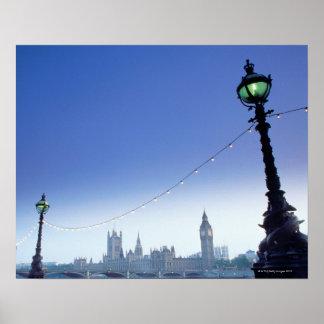 River Thames at Dusk Poster