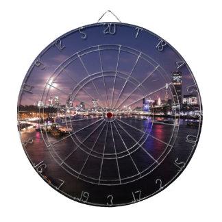 River Thames at Night Dartboard