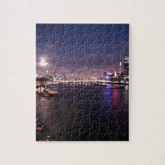 River Thames at Night Jigsaw Puzzle