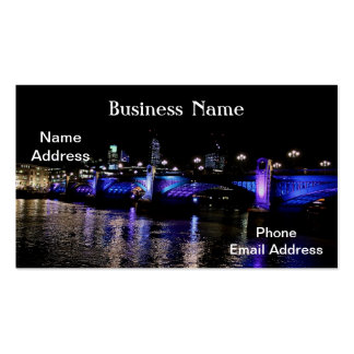 River Thames at Night, London England Double-Sided Standard Business Cards (Pack Of 100)