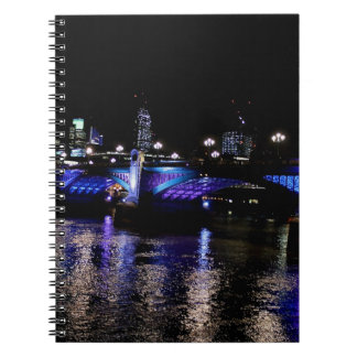 River Thames at Night, London England Journals