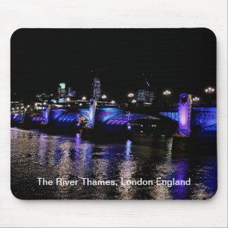 River Thames at Night, London England Mouse Pad