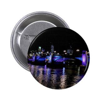 River Thames at Night, London England Pinback Button