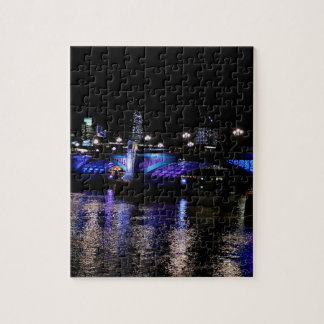 River Thames at Night, London England Jigsaw Puzzles