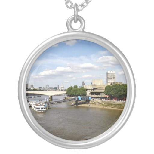 River Thames London Round Silver Necklace