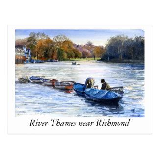 River Thames ner Richmond Postcard