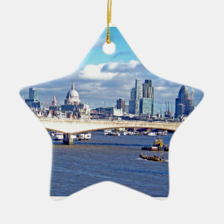 River Thames Double-Sided Star Ceramic Christmas Ornament