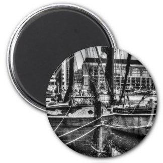 River Thames Sailing Barges Refrigerator Magnets