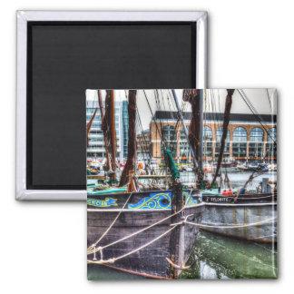 River Thames Sailing Barges Refrigerator Magnet
