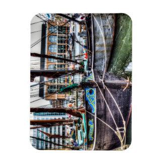 River Thames Sailing Barges Flexible Magnets