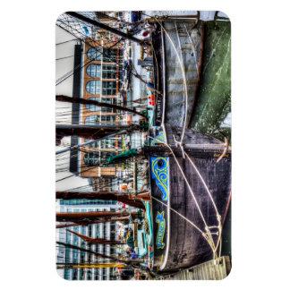 River Thames Sailing Barges Vinyl Magnets