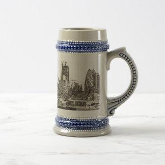 River Thames Sketch Coffee Mug