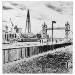 River Thames sketch Napkins